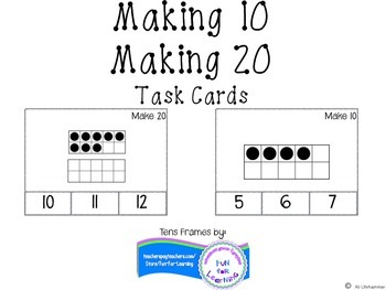 Making 10 and Making 20 Task Cards