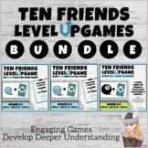 Making 10 to Add! Ten Friends Level Up Games Google Slides