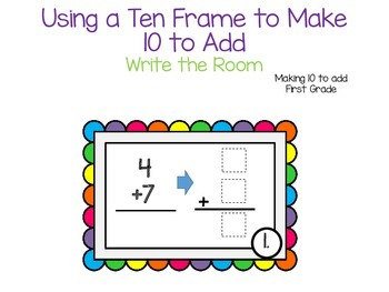 Making 10 to add using a Ten Frame