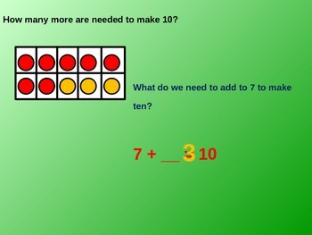 Making 10 to find sums
