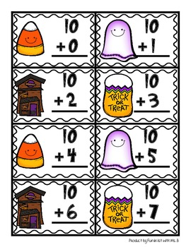 Making 10 using a Ten Frame- Halloween Style