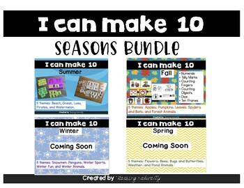 Making 10 with Addition Seasons Bundle