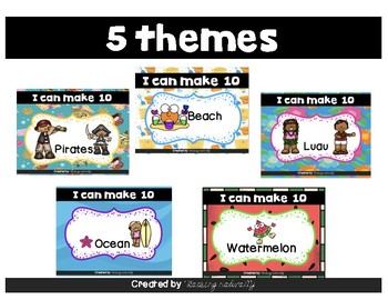#countdowntosummer Making 10 with Addition Summer Themes