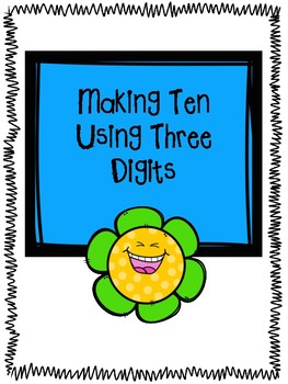 Making 10 with Three Digits Puzzle Strips