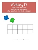 Making 10 with cubes and tens frames