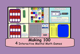 Making 100:  Four interactive mental math games for smartboard