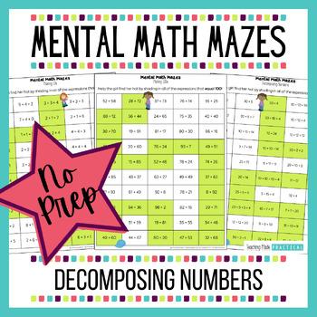Making 100s Center - Mental Math Activity Maze