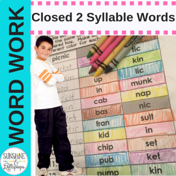 Closed Two Syllable Words Word Work