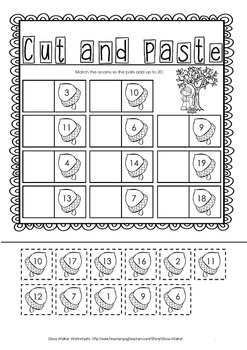 Making 20 (Twenty) Worksheets / Printables / Includes Number Bonds