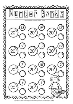 Making 20 Twenty Worksheets Printables Includes Number Bonds 1927125 on History Worksheets For Kindergarten