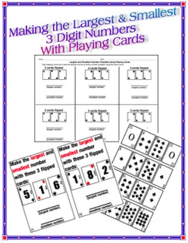 Making the Largest & Smallest 3 Digit Numbers with Playing Cards