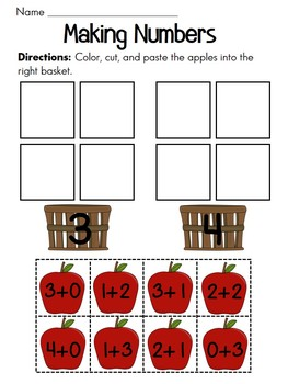 Free Making Numbers Apple Sort