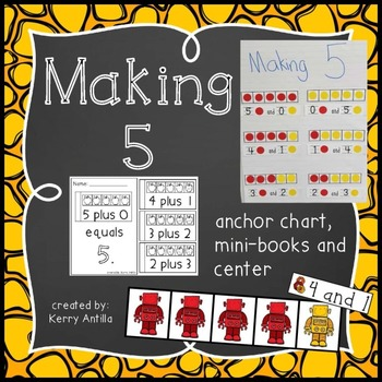 Making 5- Anchor Chart, Mini-Books and Center