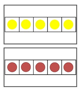 Making 5 Combination Dot Flash Cards