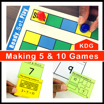 Making 5 and 10 Games and Centers Kindergarten
