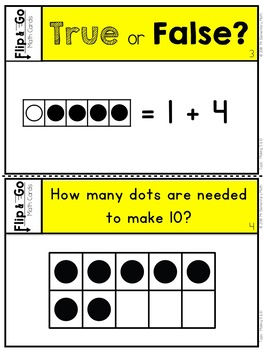 Making 5 and 10 - Kindergarten Math Tasks Cards