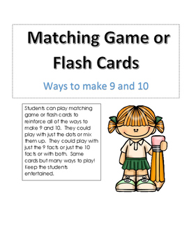 Making 9 or 10 Match Game