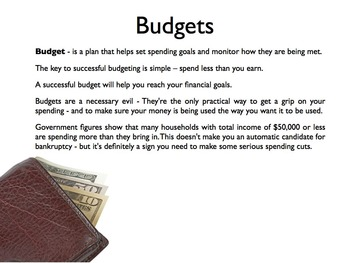 Making A Budget PowerPoint