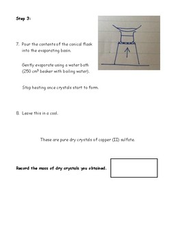 AQA GCSE Chemistry: Making A Dry Sample of Copper Sulphate