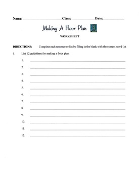 Making A Floor Plan Lesson