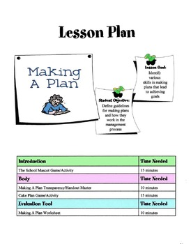 Making A Plan - The Management Process Lesson