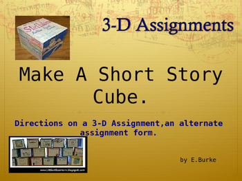 Making A Short Story Cube