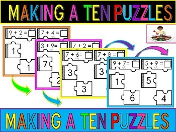 Making A Ten to Add Puzzles