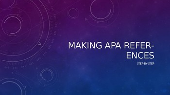 Making APA References Step-by-Step (with activities for beginners)
