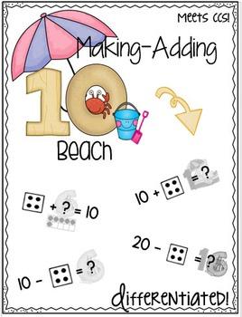 Making-Adding 10 Beach Theme