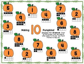Making-Adding 10 Pumpkins