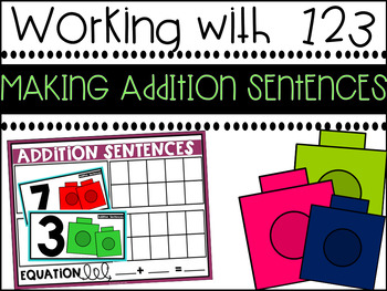 Making Addition Sentences {A Working With Numbers Center}