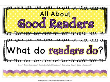 Making Anchor Charts Set 3: All About Readers