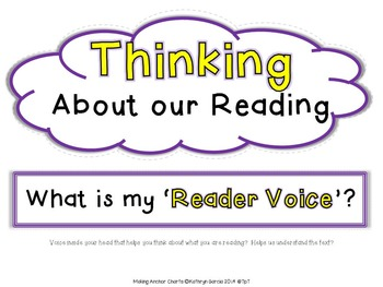 Making Anchor Charts Set 3 All About Readers