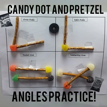 Making Angles with Candy and Pretzels!