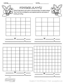 Making Arrays Mulitplication Worksheet