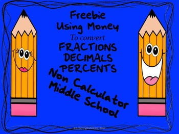 Making Basic Fractions, Decimals and Percents Easy-Freebie