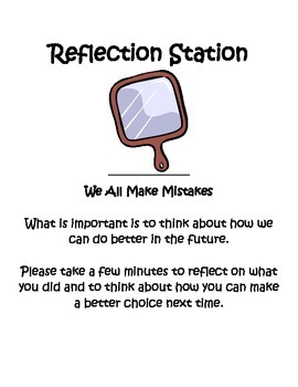 Making Better Choices - Reflection Station