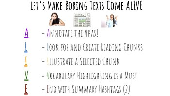 Making Boring Texts Come Alive - Poster