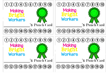 Making Brighter Choices Punch Cards