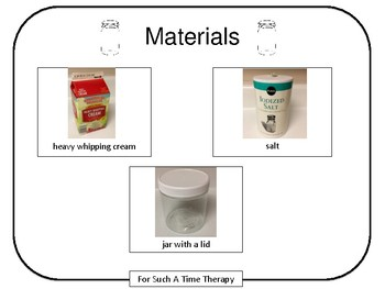 Making Butter Activity