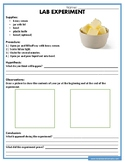 Making Butter Science Experiment Worksheet