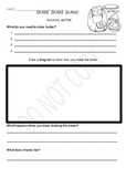 Making Butter worksheet