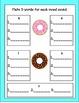 kindergarten & 1st CVC Donuts Literacy Station (bonus real/ nonsense words pk)