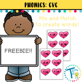 CVC Hearts - Mix and Match - Short Vowels