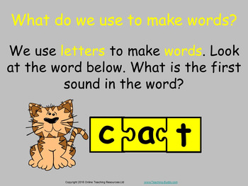 Making CVC Words - Powerpoint and Worksheet teaching resource