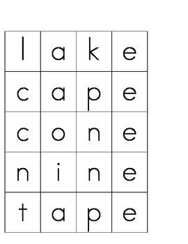 Making CVCe Words 2