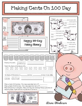 Making Cents On 100 Day: Money Activities