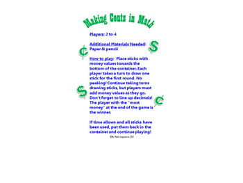 Making Cents in Math - Add Whole Numbers and Decimals