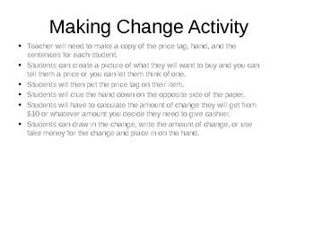 Making Change Activity
