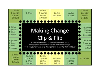 Making Change Clip and Flip board (self checking)